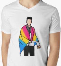 Brendon Urie pansexual pride art V-Neck T-Shirt