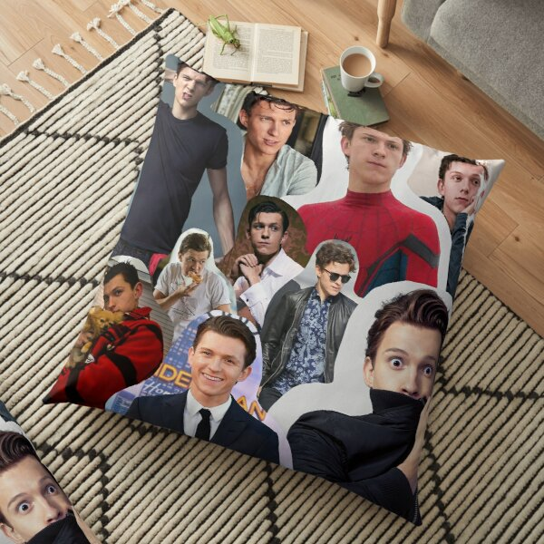 Tom Holland Collage Floor Pillow