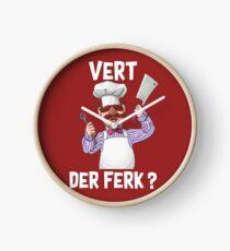 Swedish chef vert der ferk shirt Clock