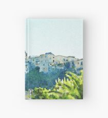 View of the village of Scalea Hardcover Journal