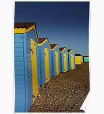 Beach Huts at Littlehampton Poster