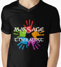 Massage Therapist Men's V-Neck T-Shirt