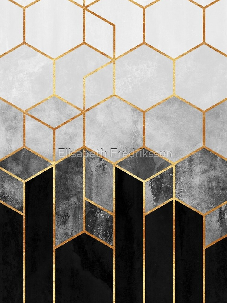 Charcoal Hexagons by foto-ella