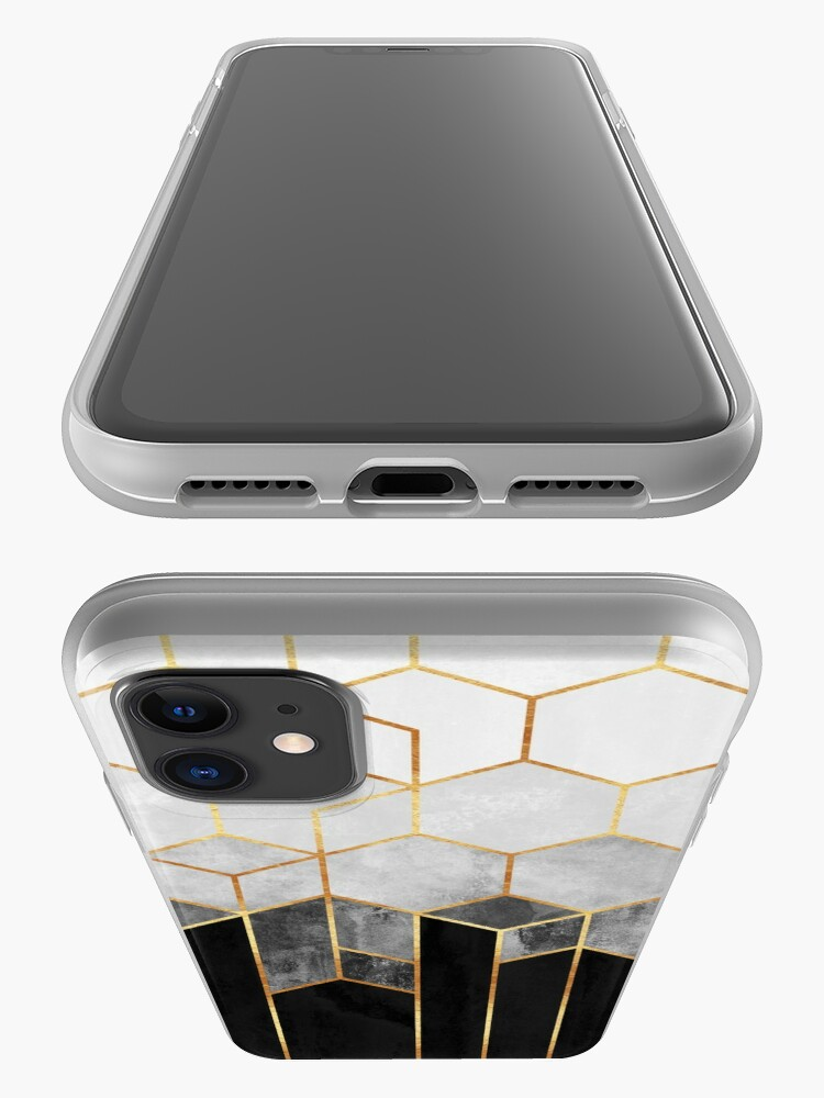 Alternate view of Charcoal Hexagons iPhone Case & Cover