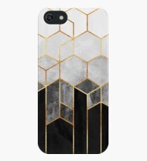 Charcoal Hexagons iPhone SE/5s/5 Case