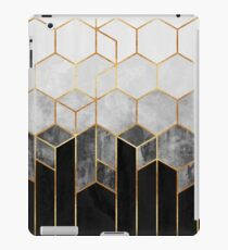 Charcoal Hexagons iPad Case/Skin