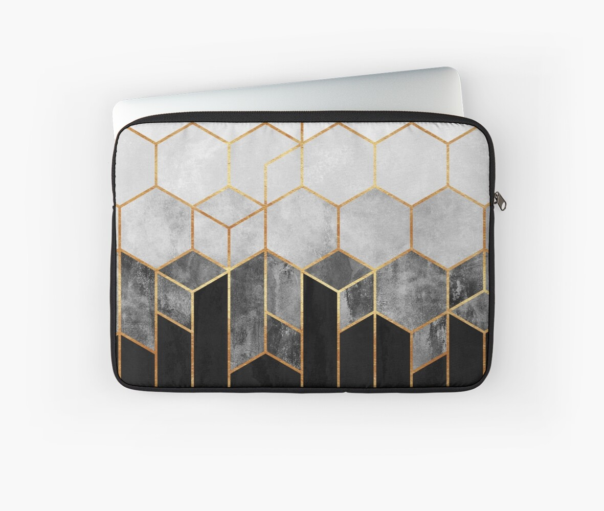 Charcoal Hexagons by Elisabeth Fredriksson