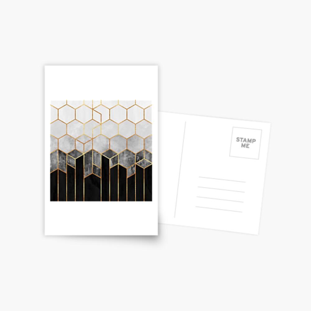 Charcoal Hexagons Postcard