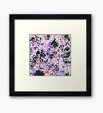 Lilac Ink Texture Framed Print