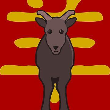 Goat - Chinese Zodiac by pda1986