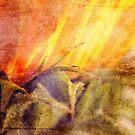 Grunge Sunflower by Karen  Betts