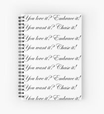 Life Quote Spiral Notebook