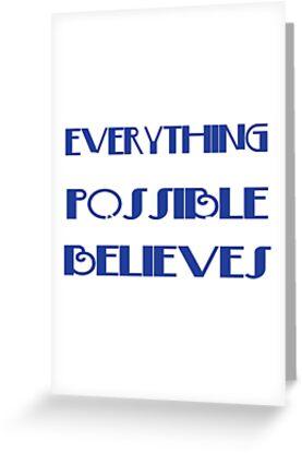 """Inspirierend und einfach """"Alles ist möglich für den, der glaubt"""", T-Stück Design Schönes geschenk au von Customdesign200"""