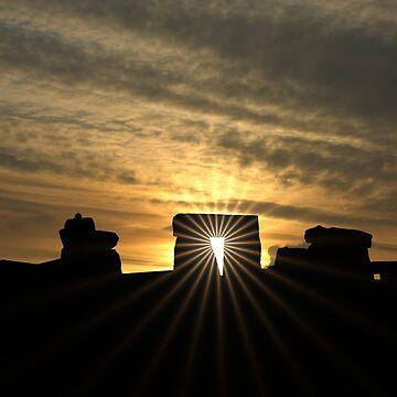 Stonehenge Sunset by JohnDalkin