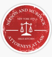 Nelson and Murdock Sticker
