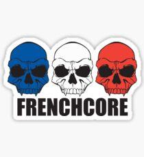 Frenchcore-Schädel Sticker
