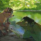 Riverside Yokai by weremagnus