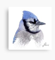 The Blue Profile 3 Canvas Print