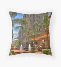 BankCity in central Johannesburg Throw Pillow