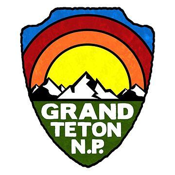 Grand Teton National Park Wyoming by MyHandmadeSigns