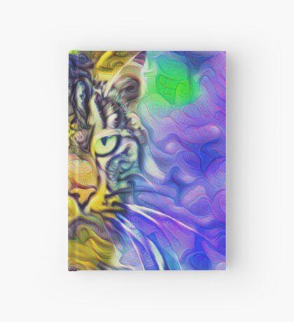 Artificial neural style iris flower cat Hardcover Journal