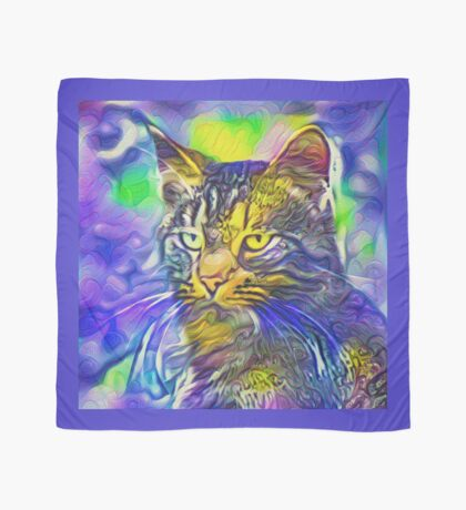 Artificial neural style iris flower cat Scarf