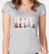 5 guitars Women's Fitted Scoop T-Shirt
