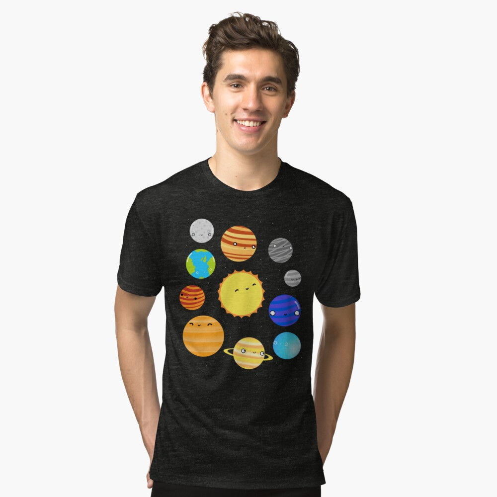 The Solar System Tri-blend T-Shirt
