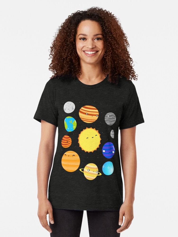 Alternate view of The Solar System Tri-blend T-Shirt
