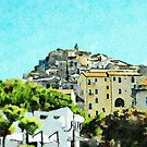View of the village of Scalea by Giuseppe Cocco