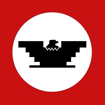 Huelga - United farmers Flag - Cesar Chavez - red eagle by estudio3e