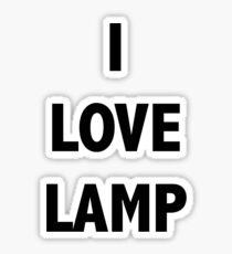 I LOVE LAMP Sticker