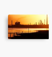 Industrial Gold Canvas Print