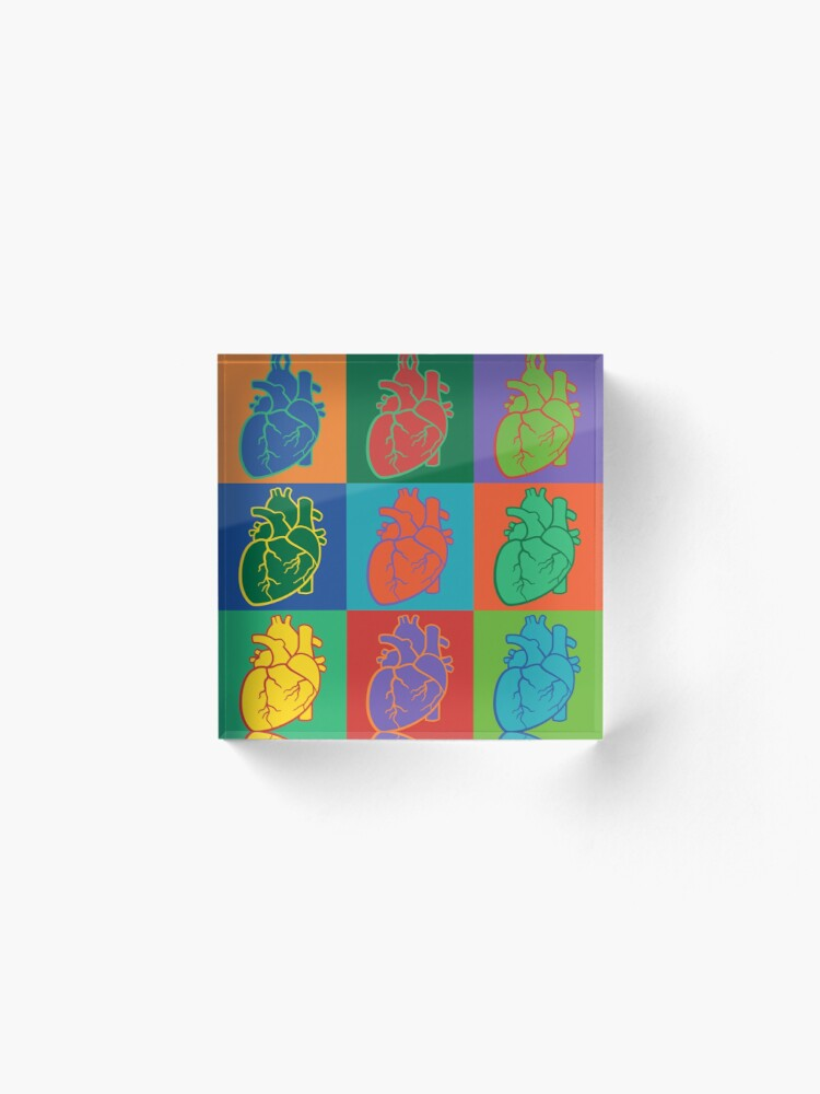 Alternate view of Pop Heart Acrylic Block