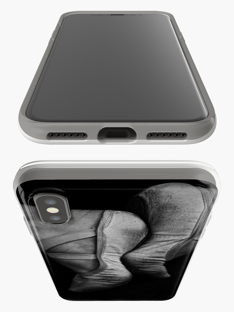 Alternate view of Ballet Slippers Black and White iPhone Case & Cover