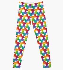 Rainbow Star Pattern Leggings