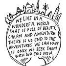 Wir leben in einer wunderbaren Welt, die ... von micksteeze