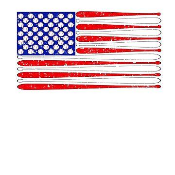 Baseball Flag | Baseball American Flag by vtv14