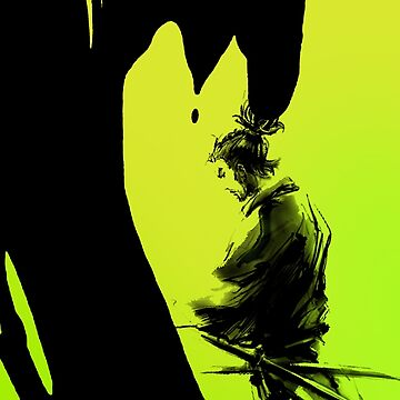 Neon Green Samurai by awesomeprints