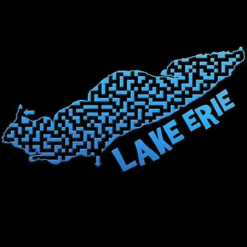 Lake Erie Outline Maze & Labyrinth by gorff