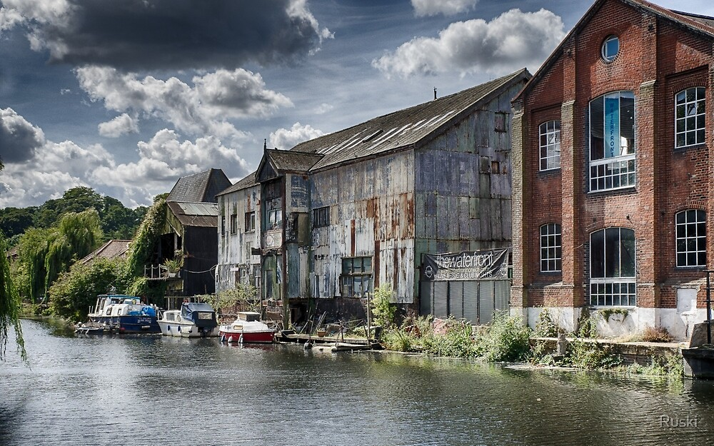 Waterfront, Norwich by Ruski