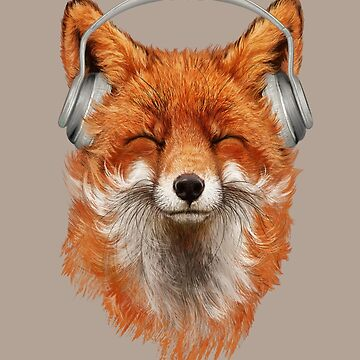 Smiling Musical Fox by 38Sunsets