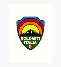 Ski Dolomiti Italia Skiing Tyrol Dolomites Italy Art Print