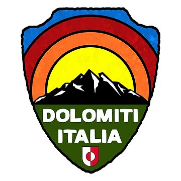 Ski Dolomiti Italia Skiing Tyrol Dolomites Italy by MyHandmadeSigns