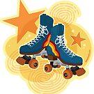 «Let's Roll - Ilustración de patines de ruedas» de Amanda Weedmark