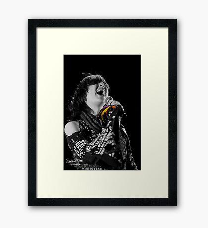 Karen O Framed Print
