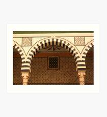 Arches inside the Bardo Museum Art Print