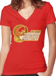 Tin Tower Sacred Fires: Ho-oh Sports Logo Women's Fitted V-Neck T-Shirt