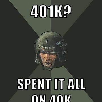 Warhammer Advice Guardsman - 40K>401K by Purpleandorange