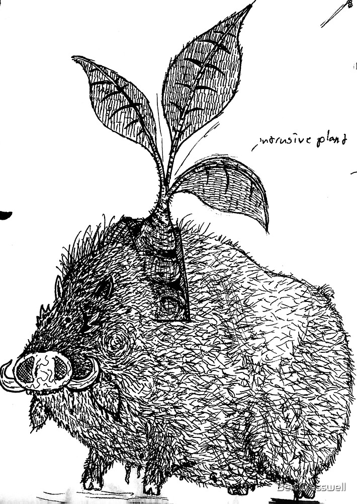 Tree pig by Ben Cresswell